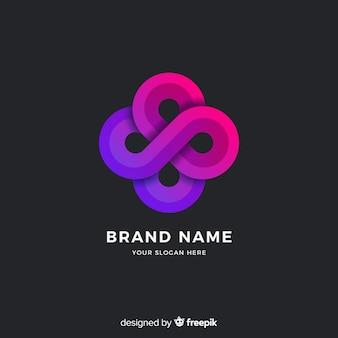 Streszczenie styl gradientu szablon logo
