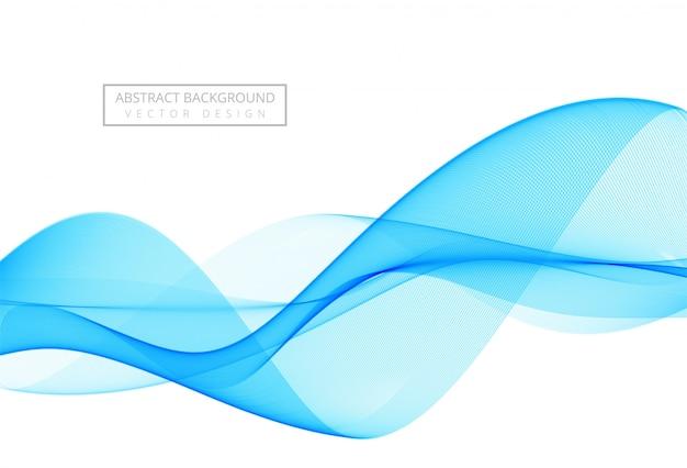 Streszczenie stylowe tło niebieskie fale
