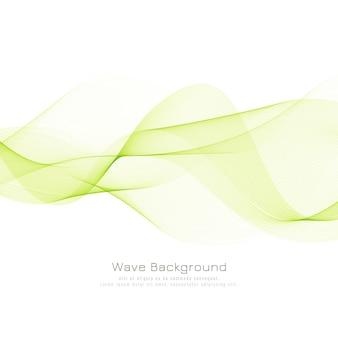 Streszczenie stylowe tło zielonej fali