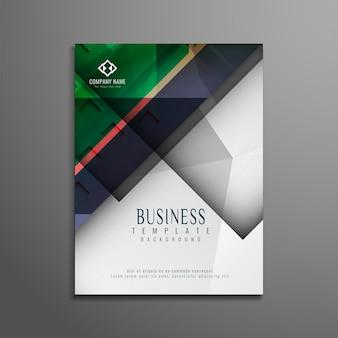 Streszczenie stylowy kolorowe broszura bsuiness projektu