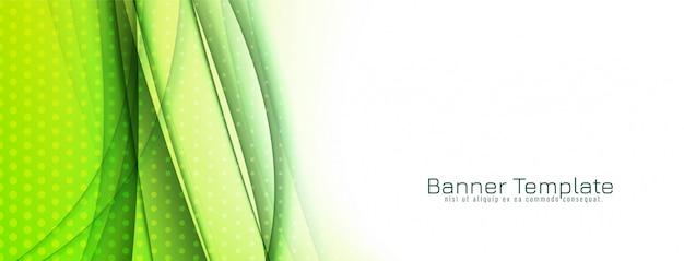 Streszczenie stylowy projekt zielony fala transparent