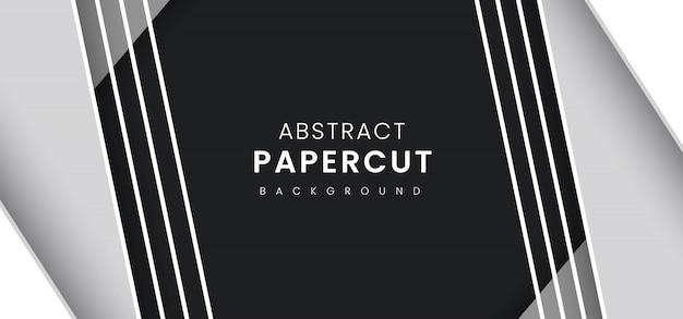 Streszczenie stylowy tło cięcia papieru