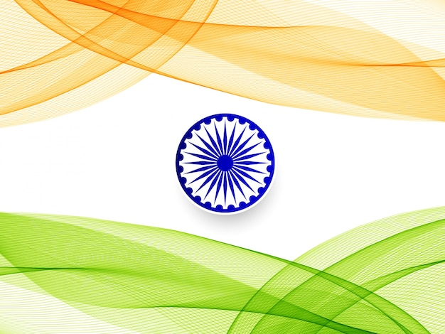 Streszczenie stylowy tło faliste flagi indii
