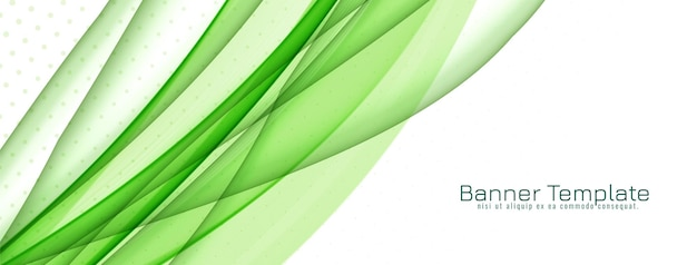 Streszczenie stylowy zielony fala transparent