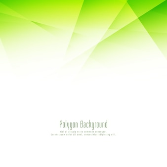 Streszczenie stylowy zielony wielokąt projekt eleganckie tło