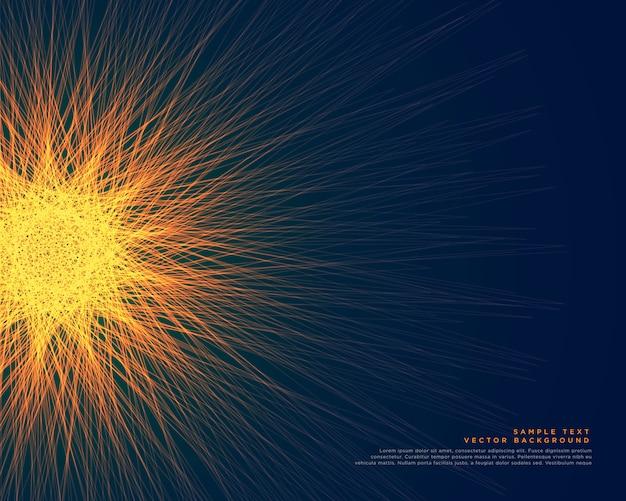 Streszczenie świecące fraktal linie tła