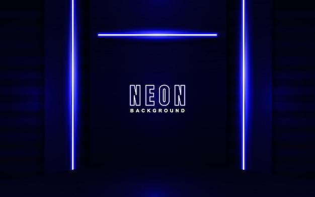 Streszczenie świecące neonowe niebieskie tło