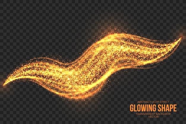 Streszczenie świecące płonący kształt przezroczysty wektor