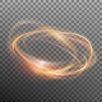Streszczenie świecący pierścień. przezroczyste tło tylko w