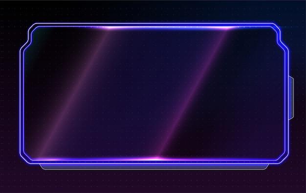 Streszczenie świecący układ koncepcyjny dla interfejsu użytkownika, aplikacji i gry.