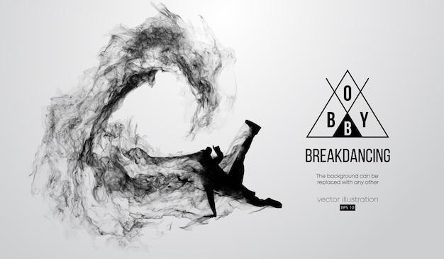 Streszczenie sylwetka breakdancer