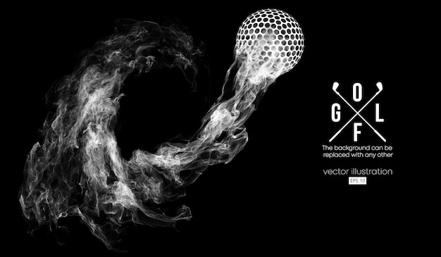 Streszczenie sylwetka ilustracji piłeczki do golfa