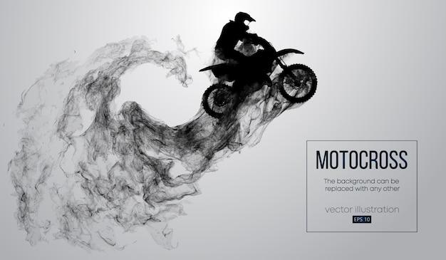 Streszczenie sylwetka rider motocross