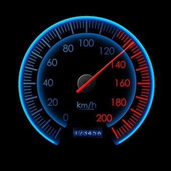 Streszczenie symbol projektu logo prędkości