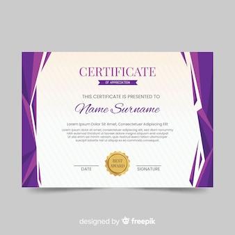 Streszczenie szablon certyfikatu