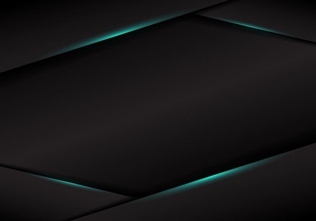 Streszczenie szablon czarny rama układ metaliczny niebieski światło