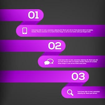 Streszczenie szablon infographic 3d