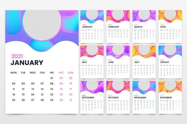 Streszczenie szablon kalendarza 2021