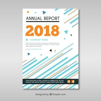 Streszczenie szablon okładki raportu rocznego