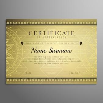 Streszczenie szablon projektu certyfikatu