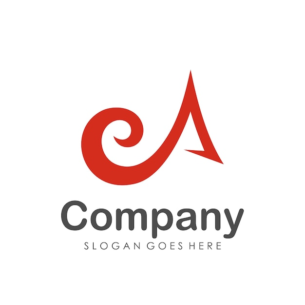Streszczenie szablon projektu logo litery