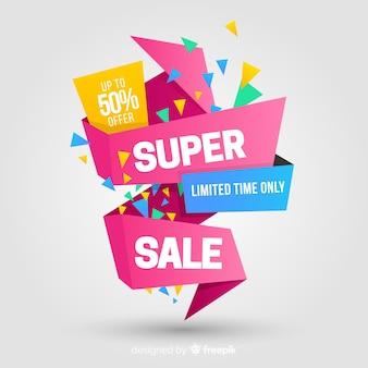 Streszczenie szablon transparent promocji sprzedaży