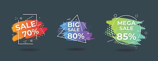 Streszczenie szablon transparent sprzedaży akwarela