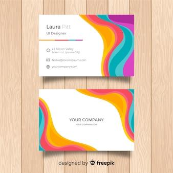 Streszczenie szablon wizytówki z kolorowy styl