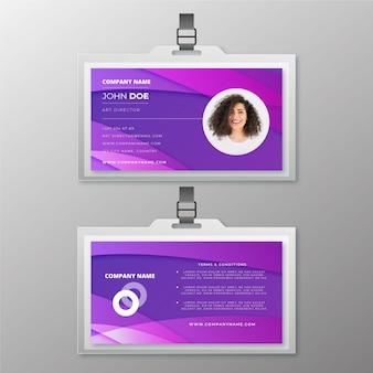 Streszczenie szablon ze zdjęciem do kart identyfikacyjnych