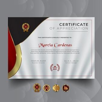 Streszczenie szablonu nagrody certyfikatu
