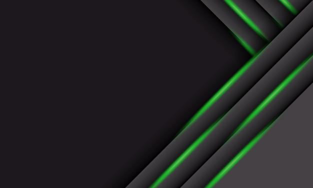 Streszczenie szare nakładające się paski z zielonym światłem i cieniem. projekt strony internetowej z banerem.