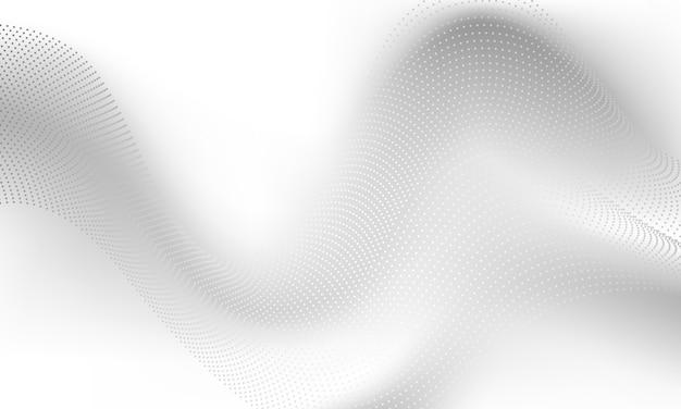 Streszczenie szare tło plakat z dynamicznymi falami. sieć technologiczna.