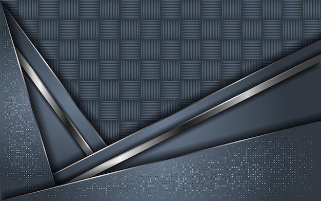 Streszczenie szary tło nakładają się warstwy z brokatem