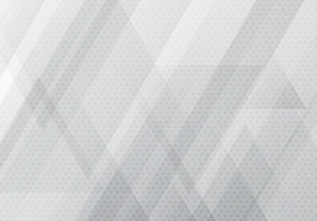 Streszczenie szary trójkąty geometryczne kształty tło