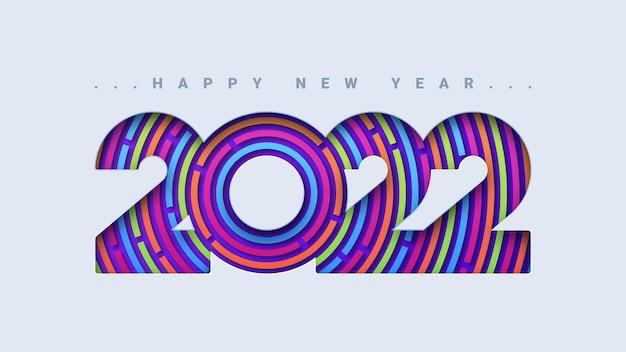 Streszczenie szczęśliwego nowego roku 2022 kartkę z życzeniami