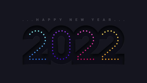 Streszczenie szczęśliwego nowego roku 2022 plakat tło