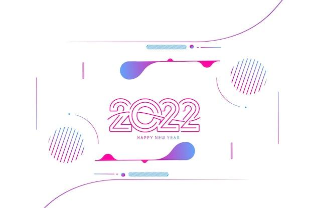 Streszczenie szczęśliwego nowego roku 2022 tekst kolorowy szablon karty z pozdrowieniami banery, ilustracji wektorowych.