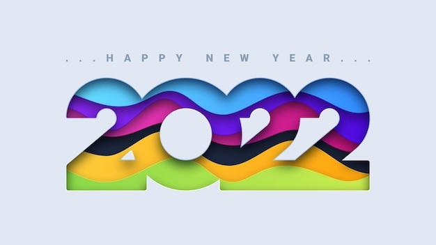 Streszczenie szczęśliwego nowego roku 2022 w tle