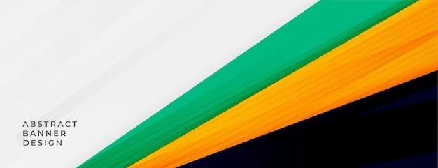 Streszczenie szeroki baner w sportowe kolory