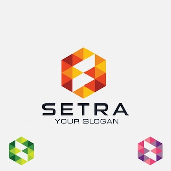 Streszczenie sześciokątne logo