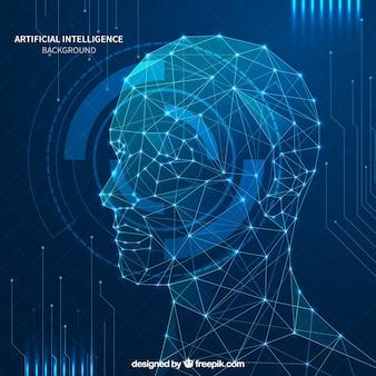 Streszczenie sztucznej inteligencji tło