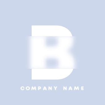 Streszczenie sztuka alfabet litery b logo. glassmorfizm . rozmyte czcionki w stylu, projekt typografii, litery i cyfry alfabetu. defocus design czcionki, skoncentrowany i nieostry alfabet stylu. ilustracja wektorowa