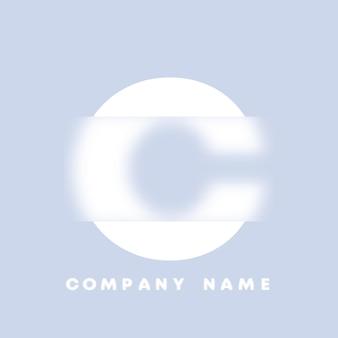 Streszczenie sztuka alfabet litery c logo. glassmorfizm . rozmyte czcionki w stylu, projekt typografii, litery i cyfry alfabetu. defocus design czcionki, skoncentrowany i nieostry alfabet stylu. ilustracja wektorowa