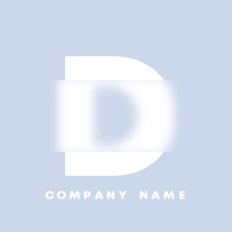Streszczenie sztuka alfabet litery d logo. glassmorfizm . rozmyte czcionki w stylu, projekt typografii, litery i cyfry alfabetu. defocus design czcionki, skoncentrowany i nieostry alfabet stylu. ilustracja wektorowa