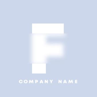 Streszczenie sztuka alfabet litery f logo. glassmorfizm . rozmyte czcionki w stylu, projekt typografii, litery i cyfry alfabetu. defocus design czcionki, skoncentrowany i nieostry alfabet stylu. ilustracja wektorowa