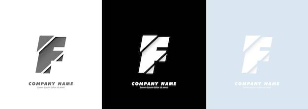 Streszczenie sztuka alfabet litery f logo. zepsuty projekt.