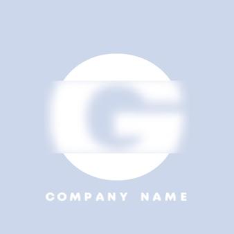 Streszczenie sztuka alfabet litery g logo. glassmorfizm . rozmyte czcionki w stylu, projekt typografii, litery i cyfry alfabetu. defocus design czcionki, skoncentrowany i nieostry alfabet stylu. ilustracja wektorowa