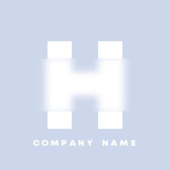 Streszczenie sztuka alfabet litery h logo. glassmorfizm . rozmyte czcionki w stylu, projekt typografii, litery i cyfry alfabetu. defocus design czcionki, skoncentrowany i nieostry alfabet stylu. ilustracja wektorowa