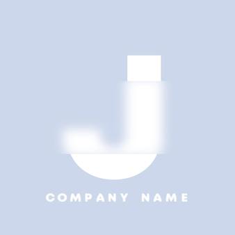 Streszczenie sztuka alfabet litery j logo. glassmorfizm . rozmyte czcionki w stylu, projekt typografii, litery i cyfry alfabetu. defocus design czcionki, skoncentrowany i nieostry alfabet stylu. ilustracja wektorowa