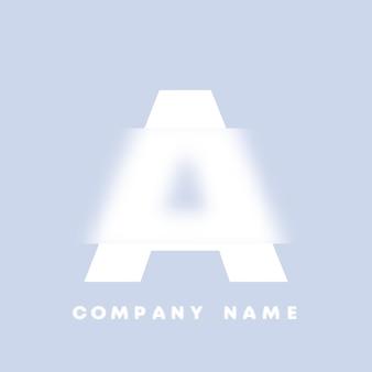 Streszczenie sztuka alfabet litery logo. glassmorfizm . rozmyte czcionki w stylu, projekt typografii, litery i cyfry alfabetu. defocus design czcionki, skoncentrowany i nieostry alfabet stylu. ilustracja wektorowa